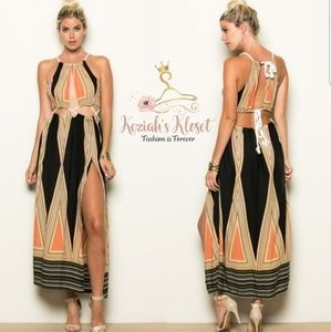 NEW Arrivel Boho Rope Lace Maxi Dress